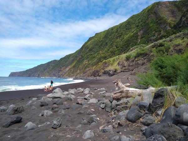 Lava strand Azoren