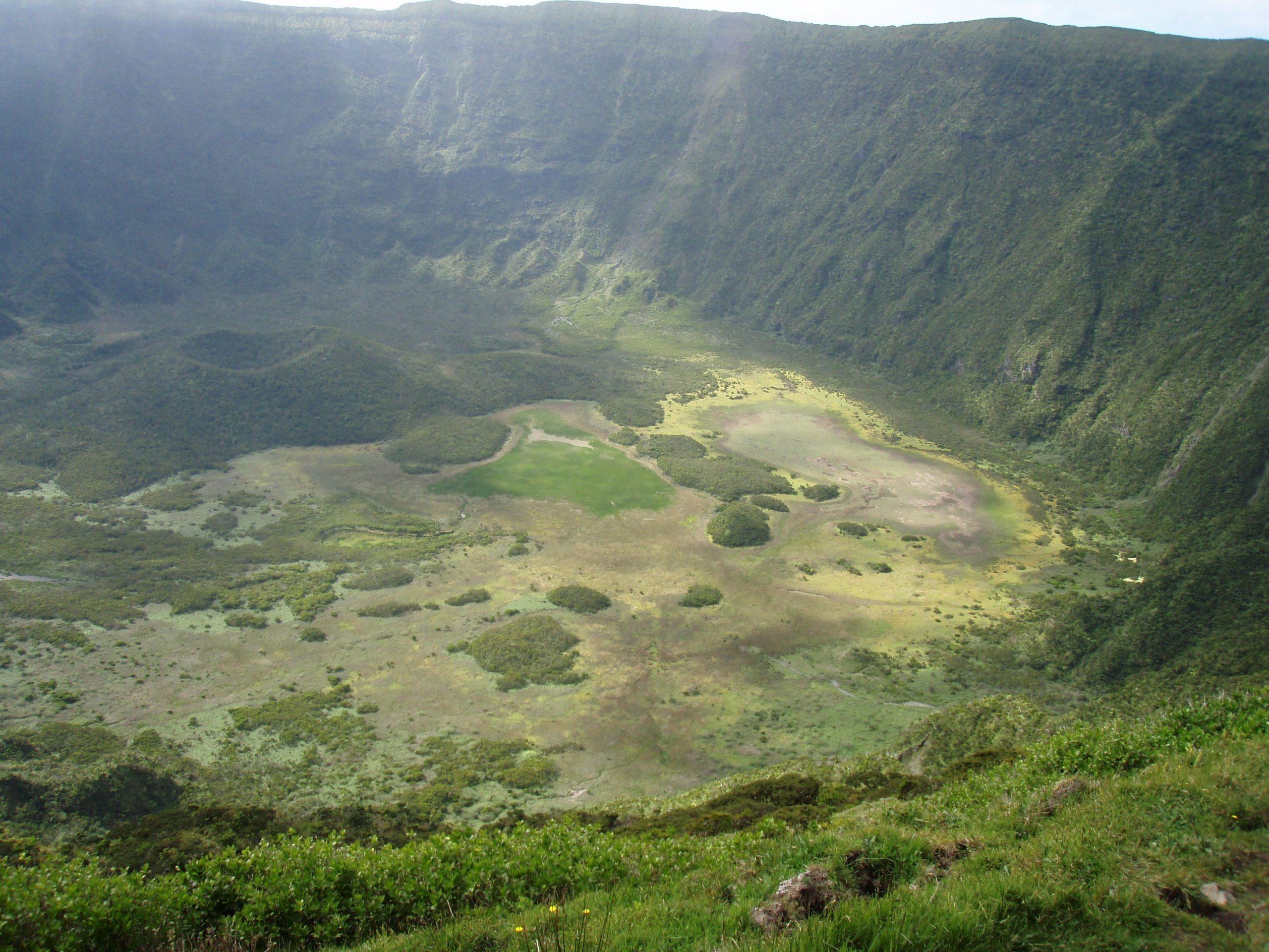 Kratermeer droog Azoren